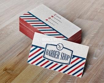 Barber business card | Etsy