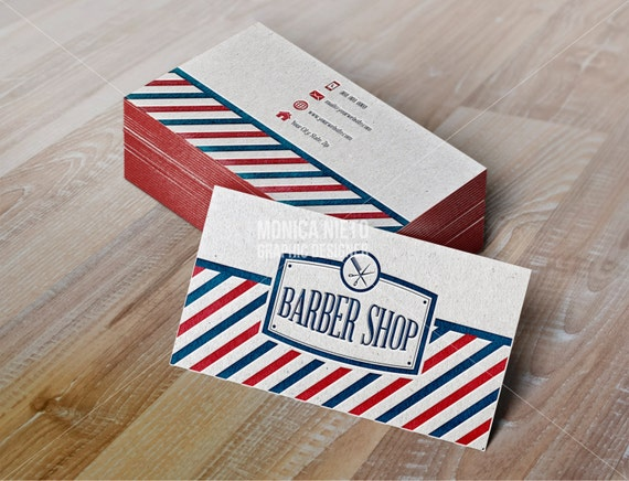 Printable Vintage Barber Shop Business Cards by Monica