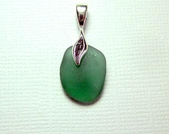 Sea Glass Jewelry Pendant  Beach Glass
