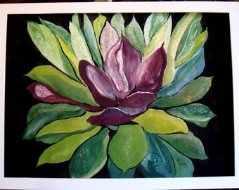 AGAVE PLANT Watercolor ORIGINAL Painting Unframed
