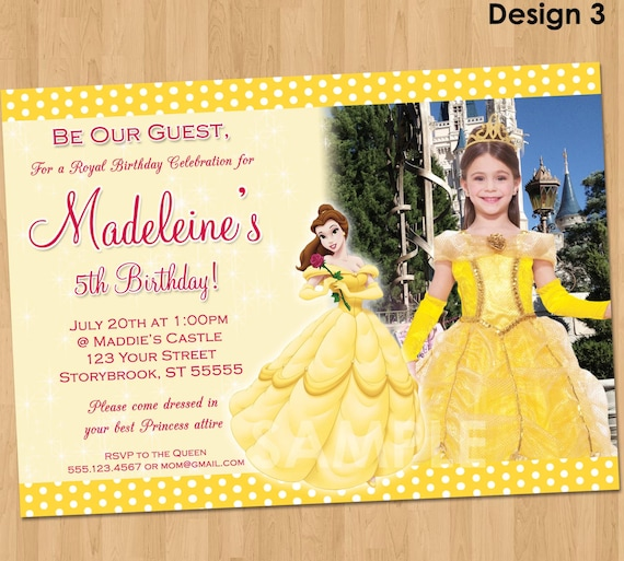 Princess belle birthday party printable invitations birthday wikii princess belle invitation make their birthday special with this unique birthday party invitation featuring princess belle from beauty and the beast filmwisefo