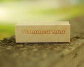 love SUMMERTIME stamp