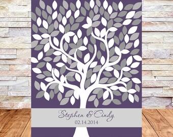 Wedding Guest book Alternative, Wedding Signature Tree Guest Book Alternative, Guestbook Poster, 16X20, 172 Leaves