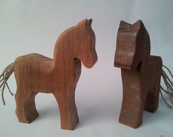 Hardwood horse