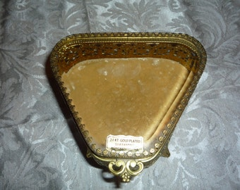 24Kt. Gold Plated Trinket Box