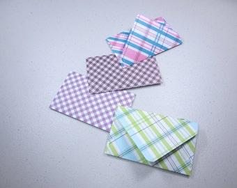 Handmade Giftcard Envelopes—Plaid