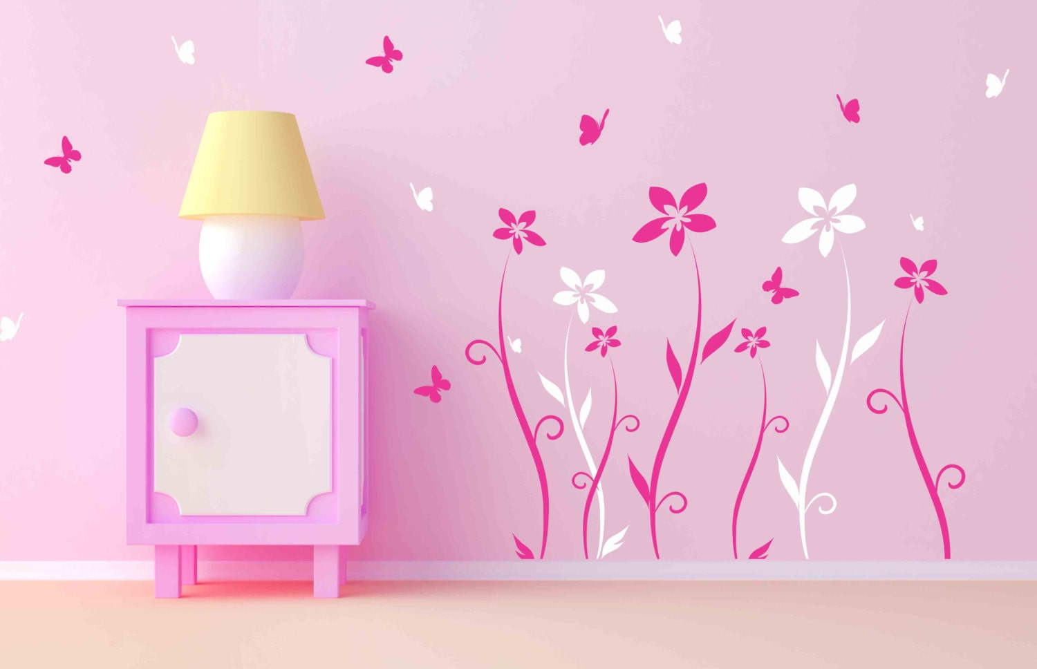 Baby girl room decor wall decals for nursery baby room designs zoom amipublicfo Images