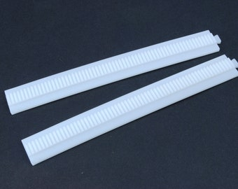 Quantity 10 x 14mm Dia x 125mm Plastic racks rack for Proops Cog Wheels Gears. (S7090) Free UK Postage.