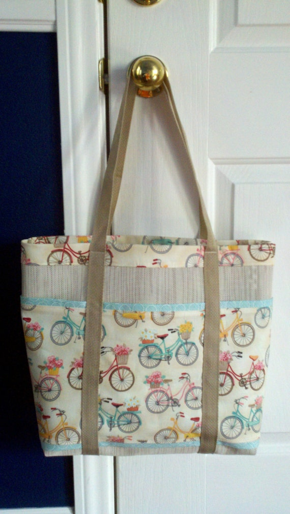 Items Similar To Bicycle Six Pocket Beach Bag Made With