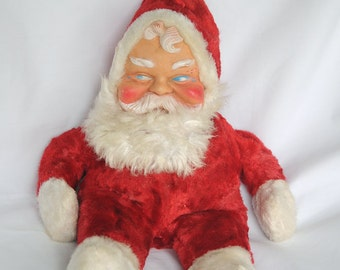 REDUCED: WAS 37.50 Vintage Santa Claus Christmas Toy Doll Stuffed Collectible Woodridge Vintage