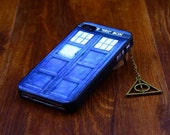 Iphone 4 4s case cover, Doctor Who Police Call Box  iphone 4 4s,Harry  Potter Deathly Hollows  iphone 4 4s