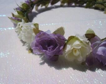 MISAKI (X) Lavender and Cream Floral Headband