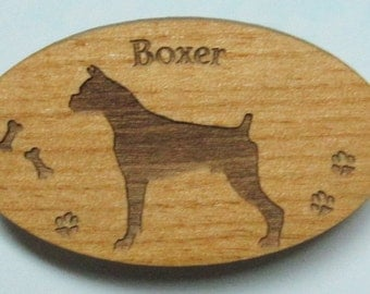 Original Design Boxer Wood Magnet