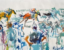 Original Contemporary Horse Racing Painting Featuring Churchill Downs