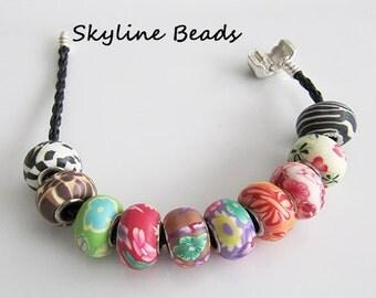 European Polymer Clay Beads, Handmade ~ Boho, Gypsy, 70's, Hippie Style!