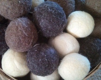 Set of 4 100% Wool Dryer Balls