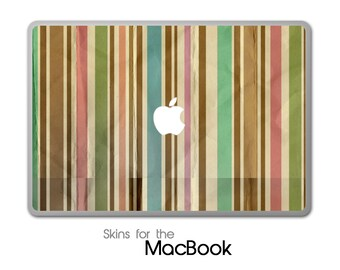 "Vintage Striped Skin for the MacBook 11"", 13"" or 15"""