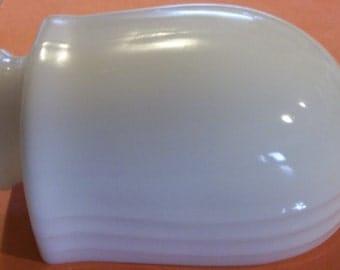 "Vintage White Milk Glass Side Shade - 3-3/4"""