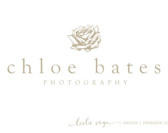 Premade Photography Logo - Rose Logo