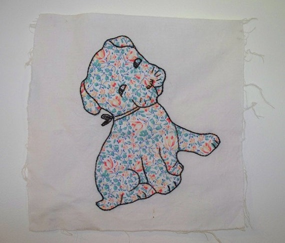 Items Similar To 1930s Vintage Appliqu 233 Quilt Block With