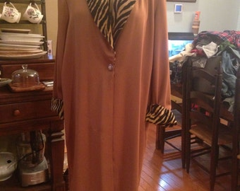 Dolce Camel-Colored 2XL Coat