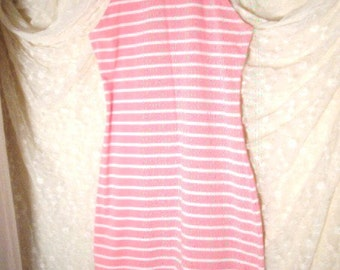 Second Skin Pink Stripe Stretch Dress