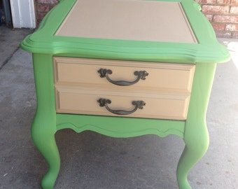 SOLD** Shabby chic end table
