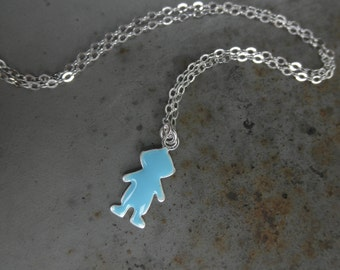 Little boy charm chain necklace