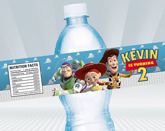 Toy Story Water Bottle Label