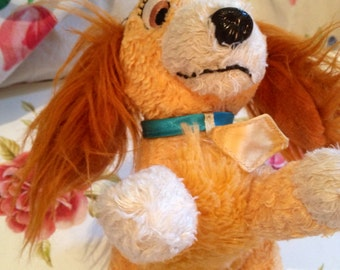 Vintage Disney Soft Beanie Toy 'Lady' From  Disney's 'Lady And The Tramp'