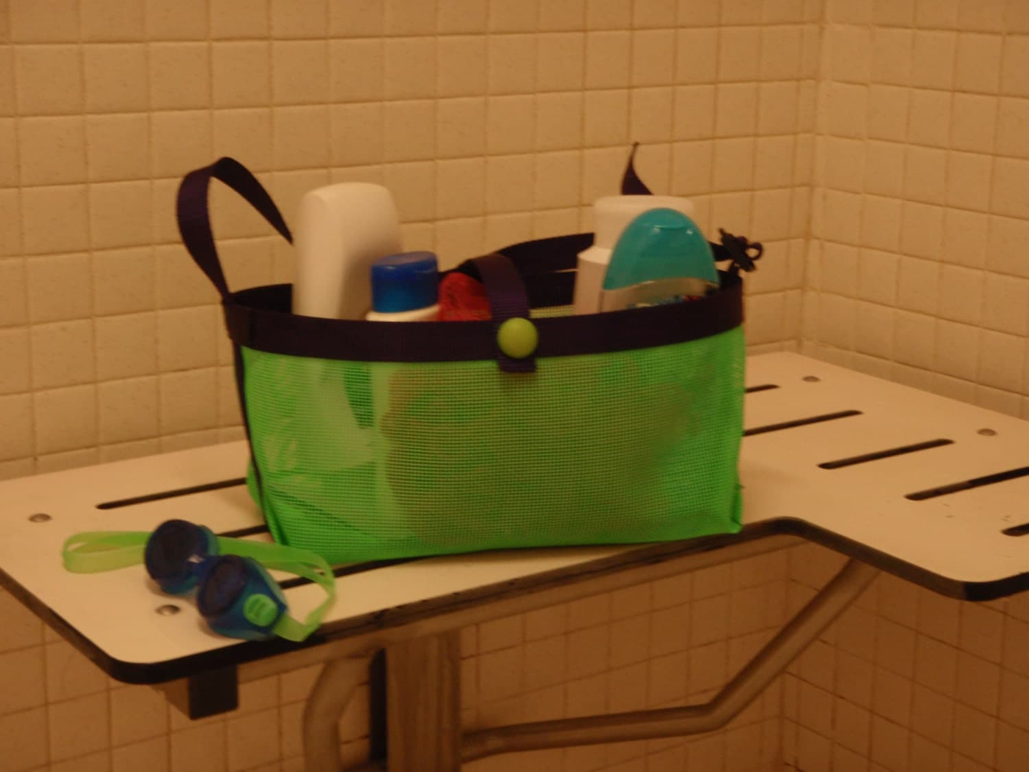 Mesh Shower Caddy College Dorm by CrowleyPage on Etsy