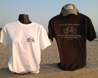 Life is like a bicycle Tshirt. Einstein
