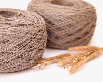 2 Balls 2ply Natural Linen Yarn, High Quality, Linen Yarn For Crochet, Knitting, 200 g/ 7 oz