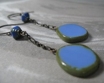 Light blue earrings, periwinkle earrings, long chain earrings, dangle earrings, something blue, azure earrings - Perfect Periwinkle earrings