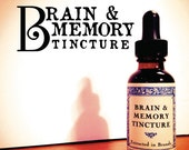 Brain and Memory Tincture-Brain tonic-brain boosting-Gingko-rosemary-sage-peppermint tincture-1 ounce glass bottle