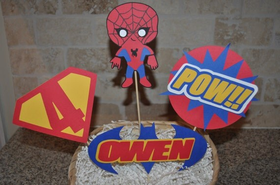 Super Hero cake topper or centerpiece