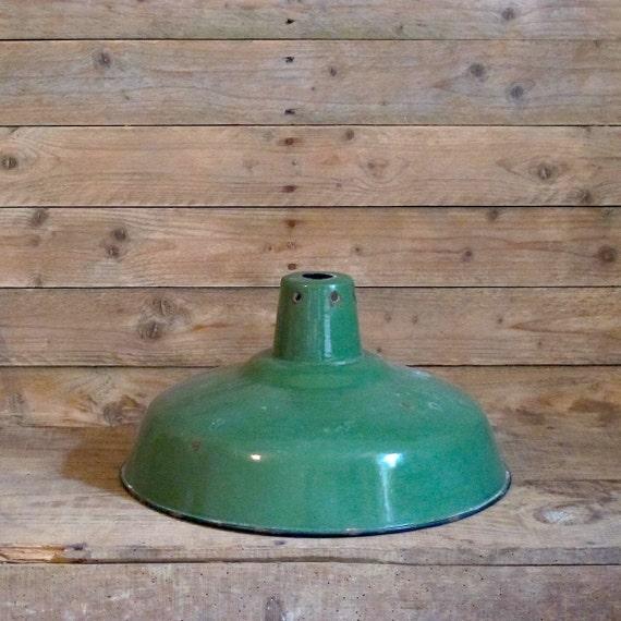Vintage French Industrial Enamel Lighting Farmhouse
