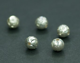 Silver Spacers, 6mm Sterling Silver Ball, Sterling Silver Beads, Jewelry Supplies, Ball Spacer, Silver Findings, Jewelry Making, Ball Spacer