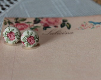 button FLOWER SHABBY earring