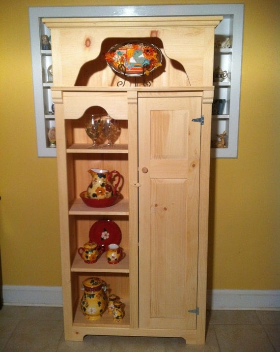 Items Similar To Shaker Style Unfinished Kitchen Display Cupboard Cabinet Or Pantry On Etsy