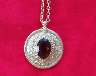 Vintage Emmons Necklace Pendant & Chain