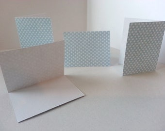 Set of 4 - Light Blue with White Dots Folded Gift Tags