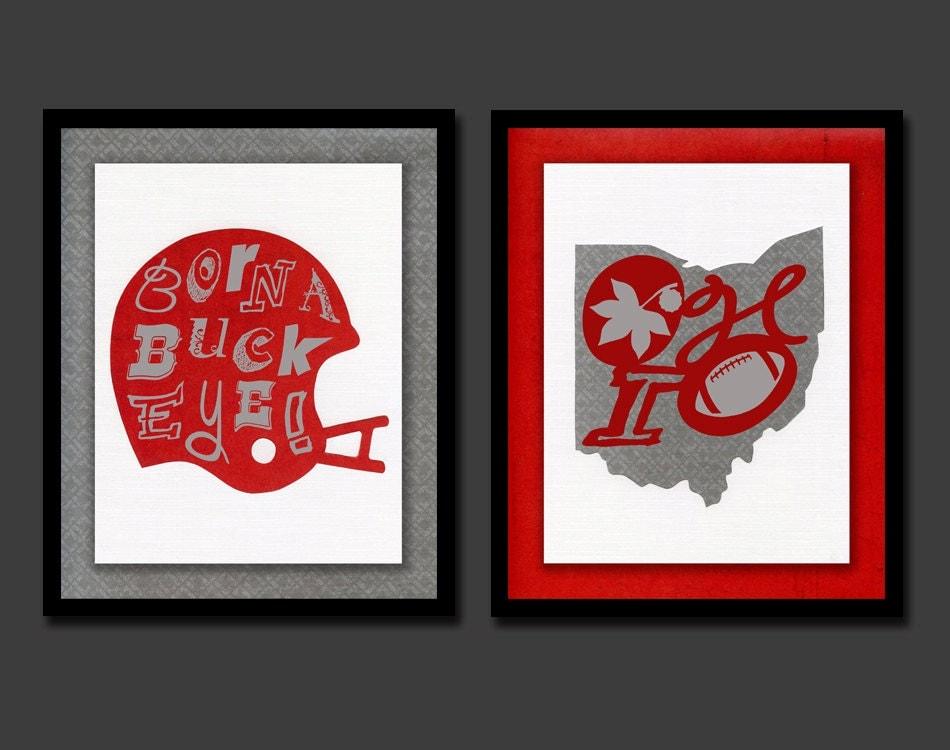 Ohio State Baby Ohio State Nursery Ohio State Decor Buckeye