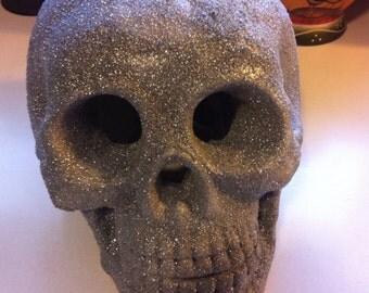 Ceramic Silver Skull