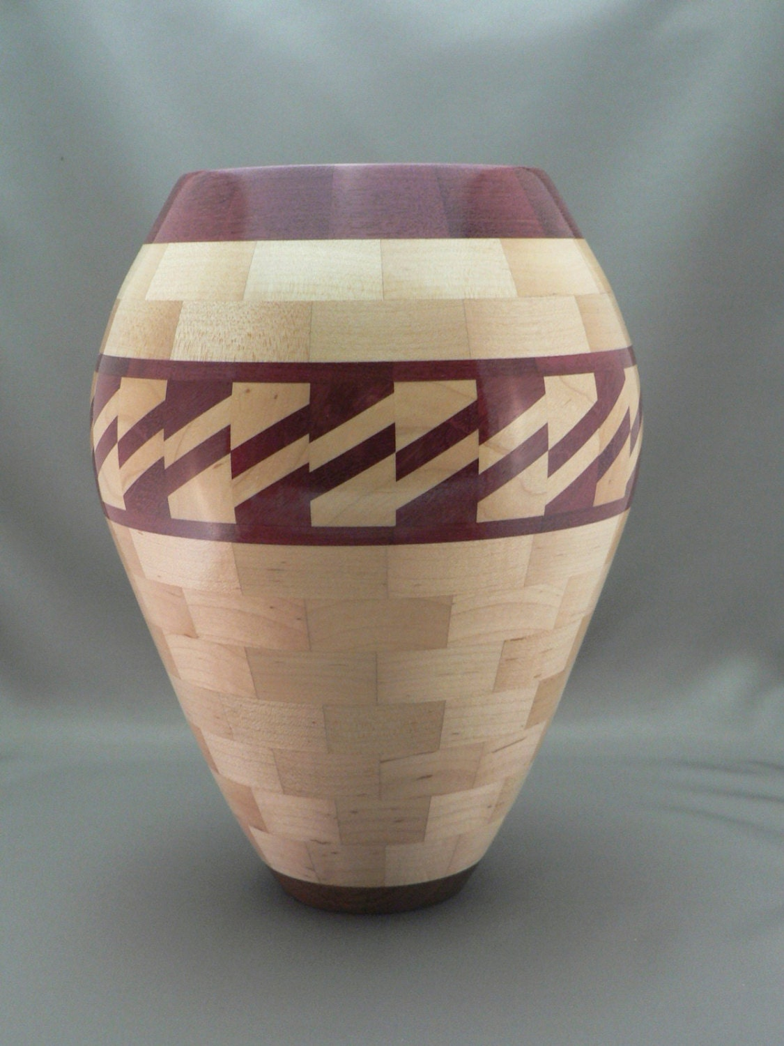 Wooden Vase Segmented Woodturning Home Decor Unique