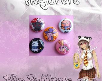 Kawaii Pet Megu Pin buttons