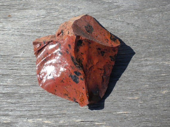 Red Obsidian Stone : Red with some black obsidian raw stone by katscoincollectibles