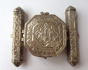 Silver Quran holder from Afghanistan