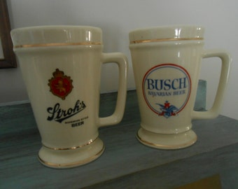 Vintage ceramic beer mugs