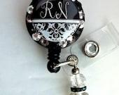 Nurse custom badge ID reel holder